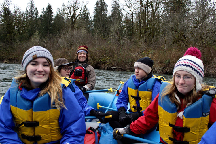 WWU Students River Rafting