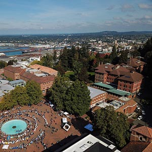 WWU campus and Bellingham image