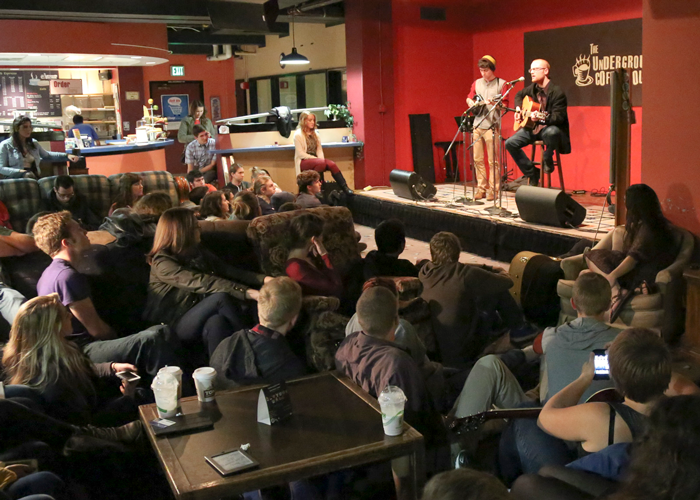 Students at the Underground Coffee House