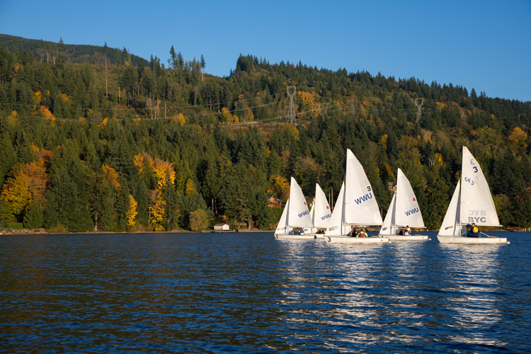Image of sailboats on lake whatcom