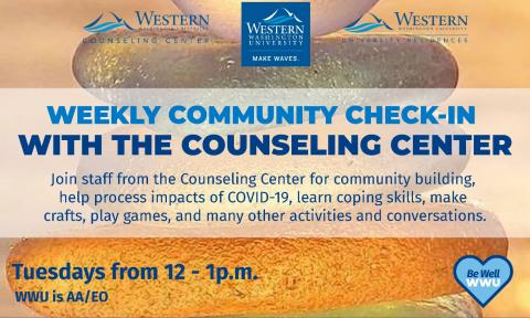 Weekly Community Check-In with the Counseling Center